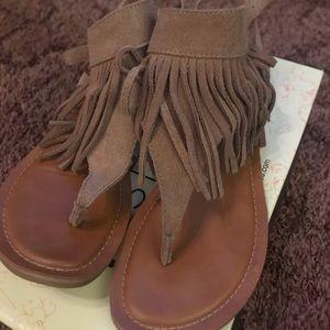"Restricted ""Kill It"" Fringe Sandals"